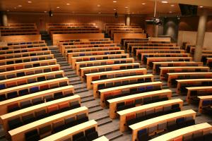 Dette var det første auditoriet jeg møtte da jeg kom på NTNU. Her er det plass til nesten 500 personer.